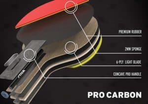 Stiga Pro Carbon Table Tennis Paddle