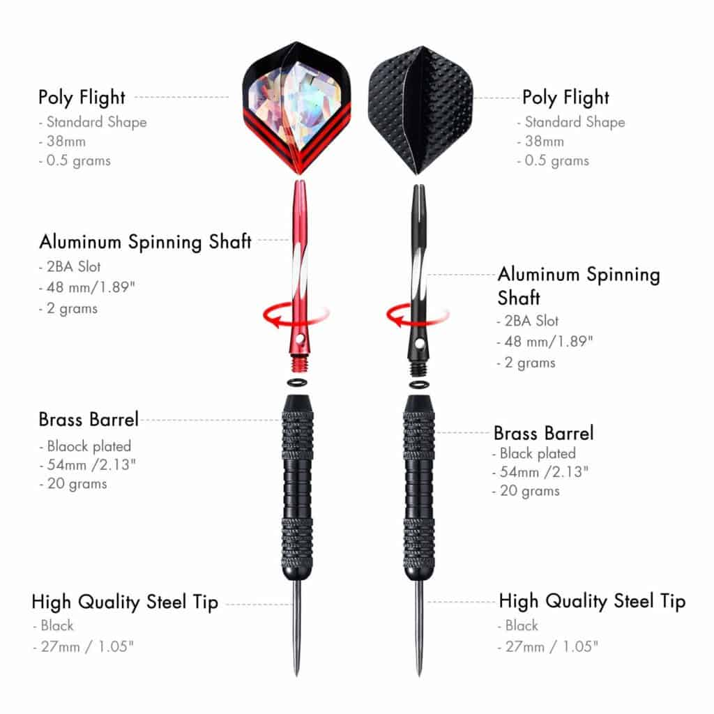 Centaur 6 Pack Steel Tip Darts