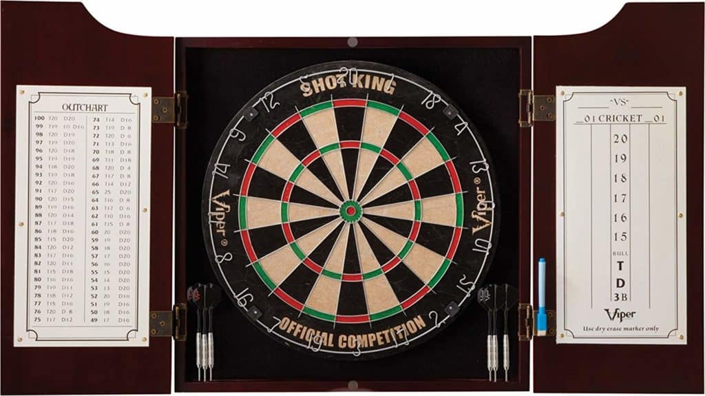 Viper Hudson Bristle Dartboard and Cabinet Set