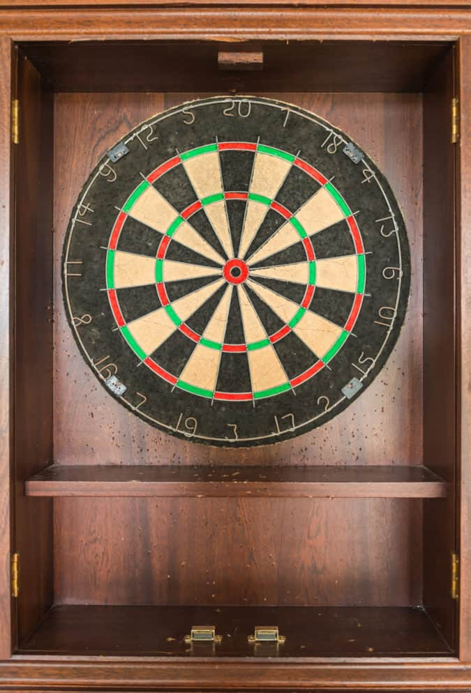 Best Dart Board Cabinet Set Review