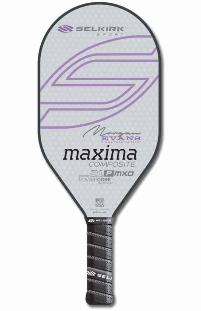 Selkirk Sport Maxima 21P MXO Composite Polymer Elongated Morgan Evans Signature Design Pickleball Paddle