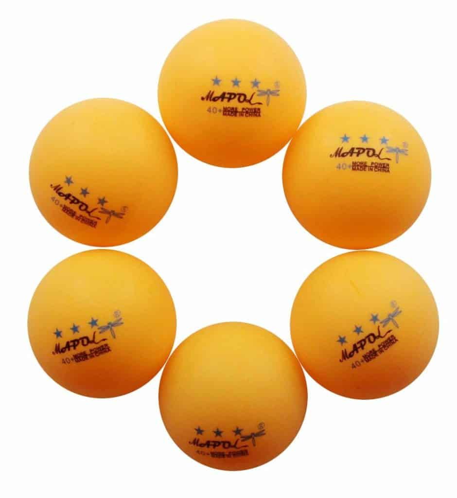 MAPOL Orange 3-Star Premium Ping Pong Balls