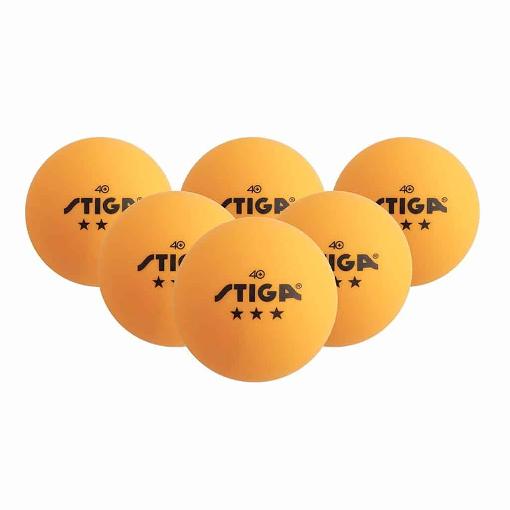 STIGA 3-Star Superior-Quality Orange Table Tennis Balls