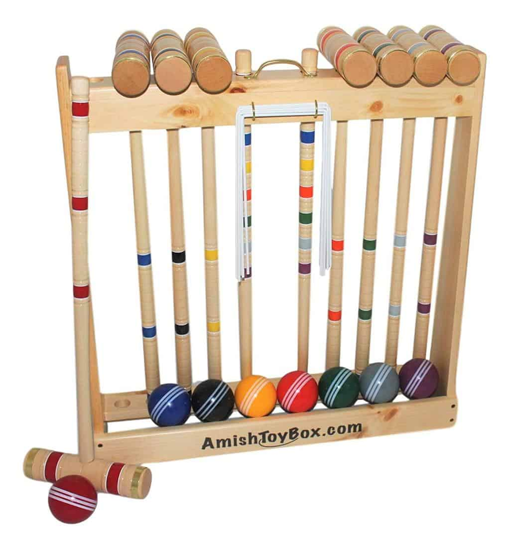 Amish Crafted Deluxe Croquet Game Set