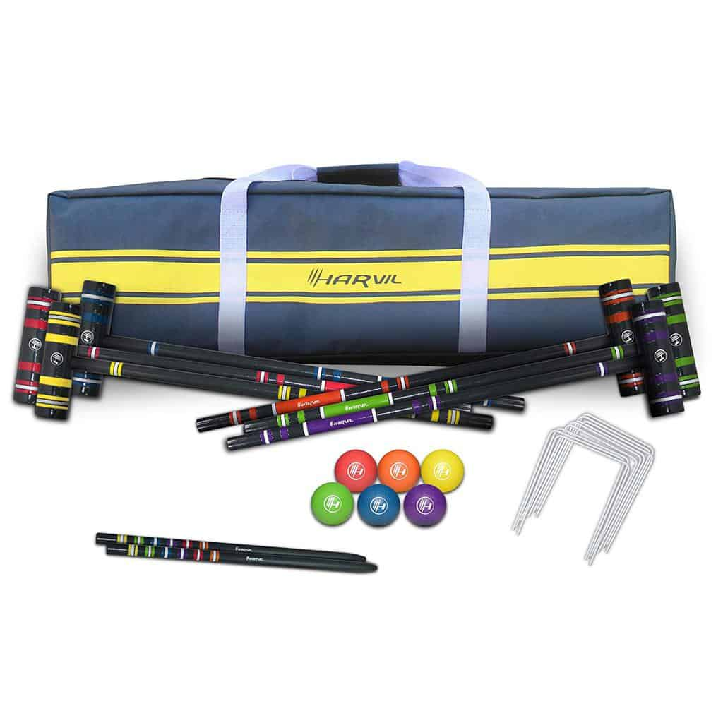 Harvil Complete Six-Player Croquet Set